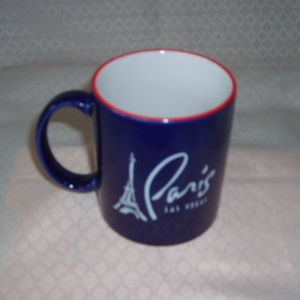 Mug Paris Las Vegas Ceramic Navy Blue/Red Rim